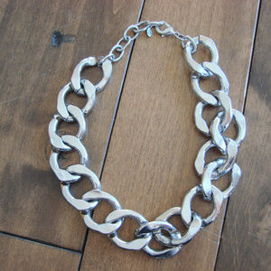 Aldo Silver Tone Chunky Necklace ~ Adjustable